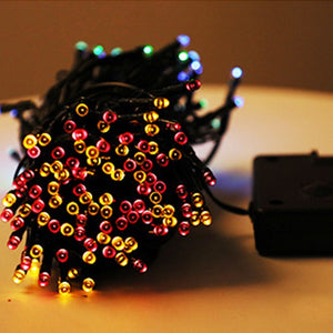LED Decoration Solar Energy Lights Outdoor Fairy String Lights Street Lights Solar Lamps Garland For Holiday Garden Lighting
