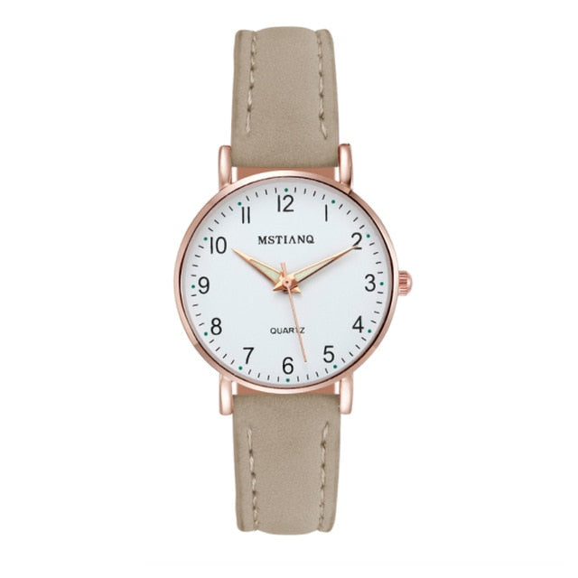 Watch Women Fashion Casual Leather Belt Watches Simple Ladies' Small Dial Quartz Clock Dress Wristwatches