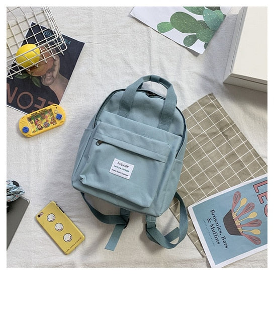 Women Backpack for Teenage Girls Summer Fashion Female Casual School Students Shoulder Bags Sweet Travel Backpacks