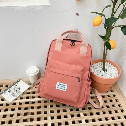 Image of Women Backpack for Teenage Girls Summer Fashion Female Casual School Students Shoulder Bags Sweet Travel Backpacks
