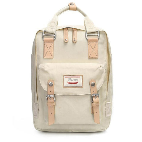Image of Backpack Women Large Capacity School Backpack Canvas Rucksack For Girls Fashion Vintage Style Laptop Travel Bags