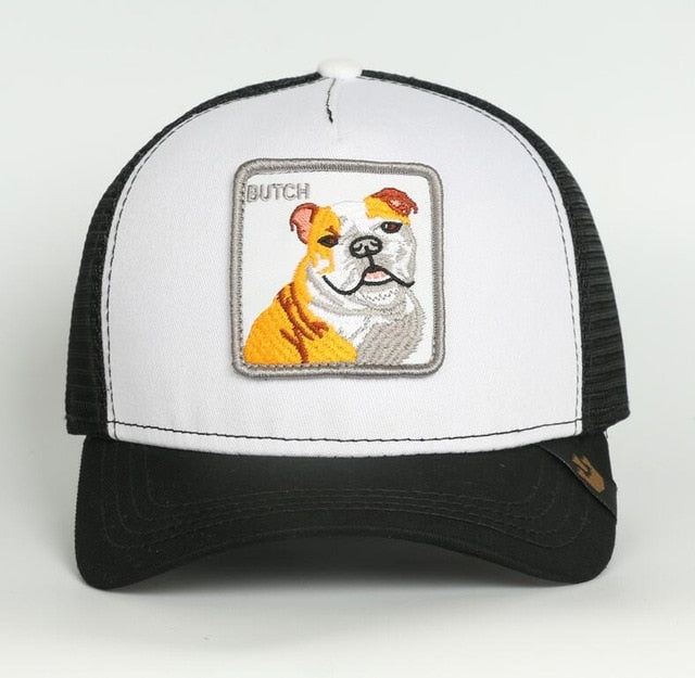 Summer Animal Embroidery Baseball Caps Men's and Women's Universal Adjustable Shade Mesh Cap Dad Hat Truck Driver