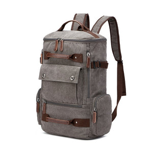 Men's Backpack Vintage Canvas Backpack School Bag Men's Travel Bags Large Capacity Backpack  Laptop Backpack Bag High Quality