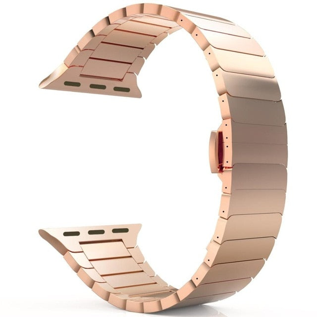 Stainless Steel strap for Apple Watch band 44mm 40mm iWatch band 42mm/38mm Butterfly Metal Bracelet Apple watch serie 5 4 3 se 6