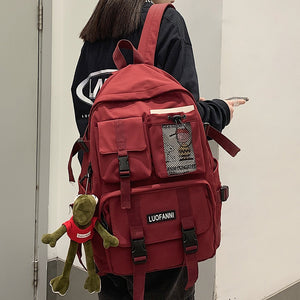 Women Nylon Backpack Travel Mesh Female Student College School Bag Men Cool Laptop Backpack Male Fashion Book Bags
