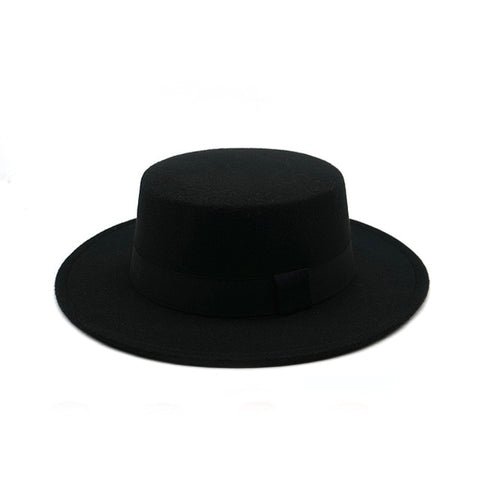 Image of Winter Autumn Imitation Wool Women Men Fedoras Top Jazz European American Round Caps Bowler Hats