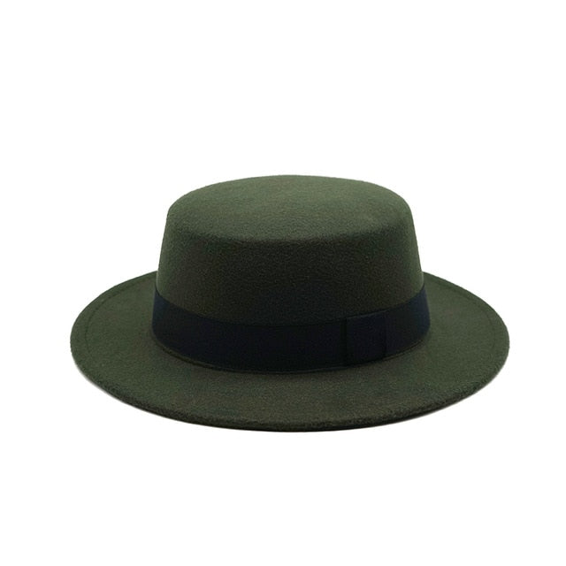 Winter Autumn Imitation Wool Women Men Fedoras Top Jazz European American Round Caps Bowler Hats