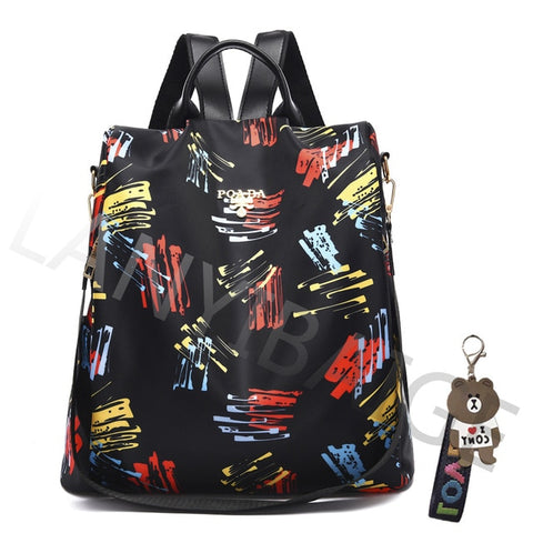 Fashion Backpack Women Oxford Cloth Shoulder Bag School Bags for Teenage Girls Light Ladies Travel Backpack