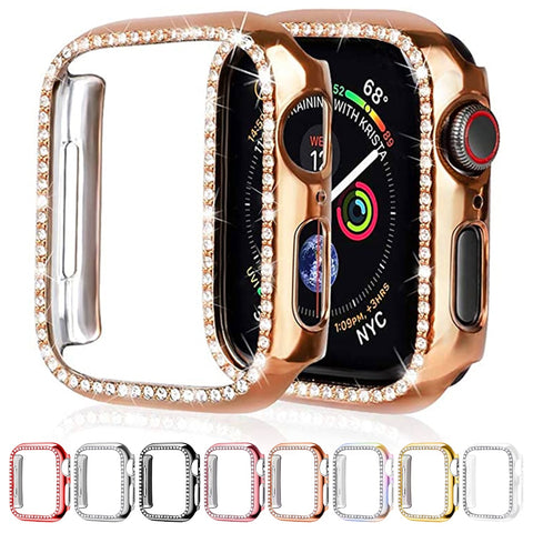 Image of Diamond Bumper Protective Case for Apple Watch Cover Series 5 4 3 2 1 38MM 42MM Cases For Iwatch 5 4 40mm 44mm watch accessories