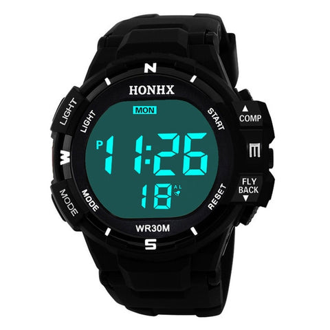 Image of Men Sports Watches Fashion Chronos Countdown Men's Waterproof LED Digital Watch Man Military Clock