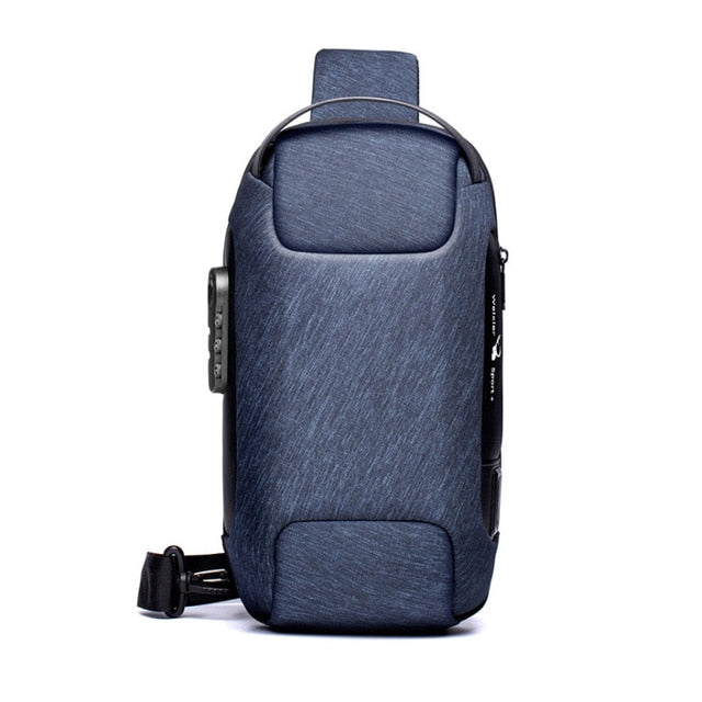 Multifunction Crossbody Bag for Men Anti-theft Shoulder Messenger Bags Male Waterproof Short Trip Chest Bag