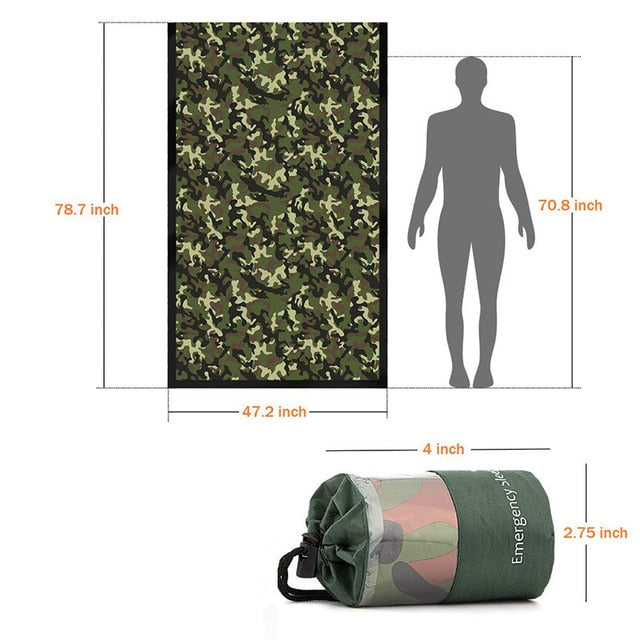 Waterproof Lightweight Thermal Emergency Sleeping Bag Bivy Sack - Survival Blanket Bags Camping, Hiking, Outdoor, Activities