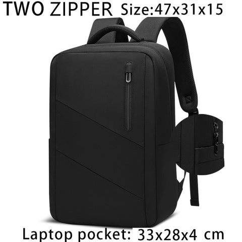 Image of Men Travel Backpack Multifunction USB Charging 15.6 Inch Laptop Backpacks for Teenage Male Waterproof Backpack