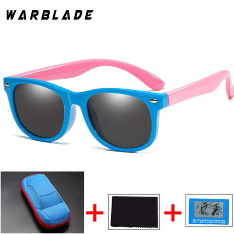 Image of Polarized Kids Sunglasses Silicone Flexible Children Sun Glasses UV400 Fashion Boy Girls Baby Shades Eyewear with Box