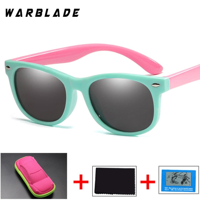 Polarized Kids Sunglasses Silicone Flexible Children Sun Glasses UV400 Fashion Boy Girls Baby Shades Eyewear with Box