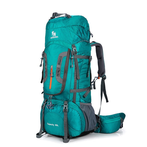 Image of Camping Hiking Backpacks Big Outdoor Bag Backpack Nylon Superlight Sport Travel Bag Aluminum Alloy Support 80L