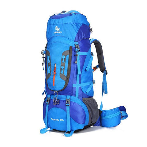 Camping Hiking Backpacks Big Outdoor Bag Backpack Nylon Superlight Sport Travel Bag Aluminum Alloy Support 80L