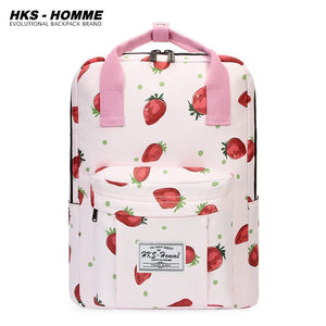 Fashion Women Backpack for School Teenage Girls Stylish School Bag Ladies Canvas Fabric Backpack Female Bookbag Laptop Bag