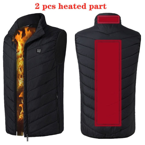 Image of 9 Areas Heated Vest Men Women Electric heated jacket Thermal Vest Jacket heating vest jacket men tactical vest
