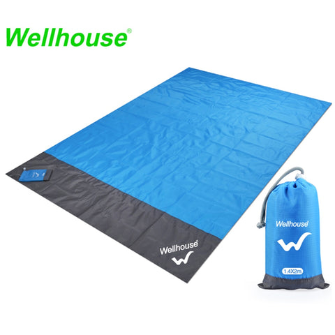 Image of Camping Mat Waterproof Beach Blanket Outdoor Portable Picnic Ground Mat Outdoor Camping Picnic Blanket 2m*1.4/2.1m