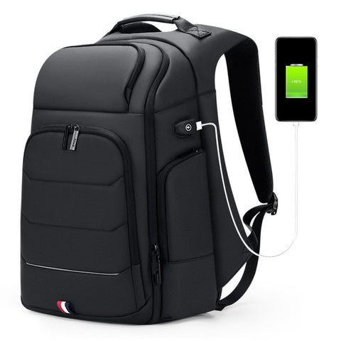 Image of Waterproof Backpacks USB Charging School Bag Anti-theft Men Backpack Fits 15.6 Inch Laptop Travel Backpack High Capacity