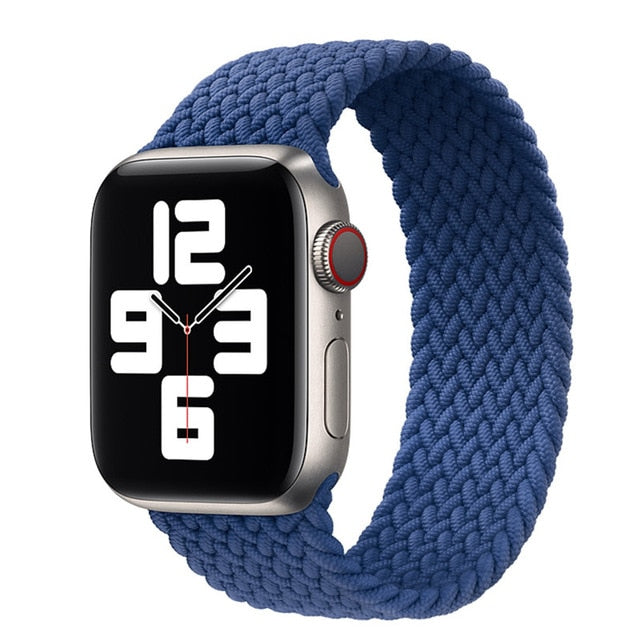 Nylon Elastic Strap for Apple Watch 6 Se Band for IWatch Serie 5 4 3 Belt Bracelet Braided Solo Loop 38mm 40mm 42mm 44mm