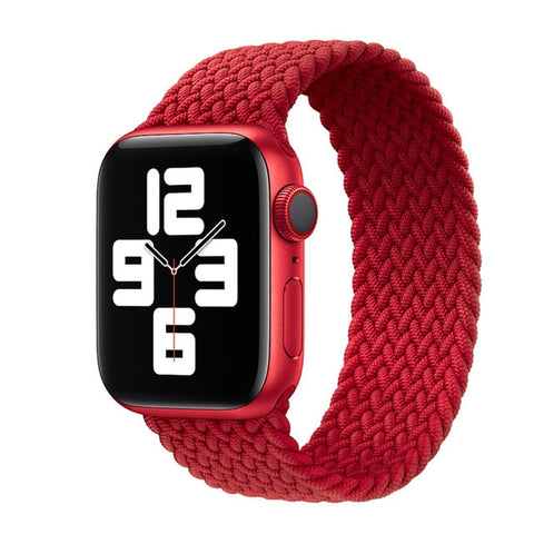 Image of Nylon Elastic Strap for Apple Watch 6 Se Band for IWatch Serie 5 4 3 Belt Bracelet Braided Solo Loop 38mm 40mm 42mm 44mm