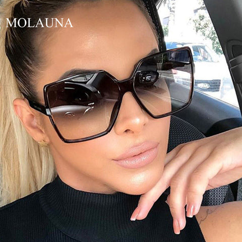 Image of Luxury Oversize Square Sunglasses Women Vintage Brand Big Frame Women Sun Glasses Fashion Gradient Female Glasses Oculos