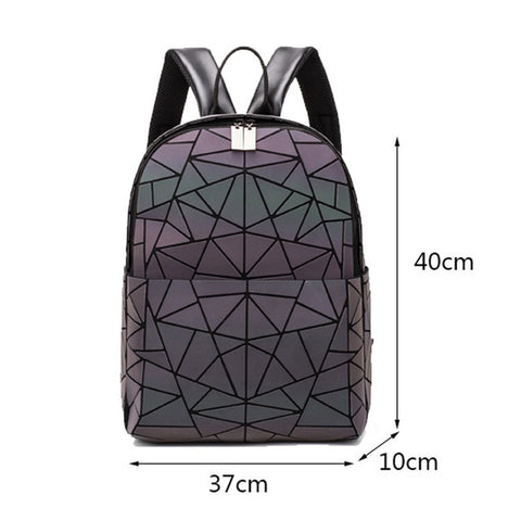 Image of Women Backpack School Bag For Teenagers Girls Large Capacity Backpacks Travel Bags for School Back Pack Holographic Bagpack
