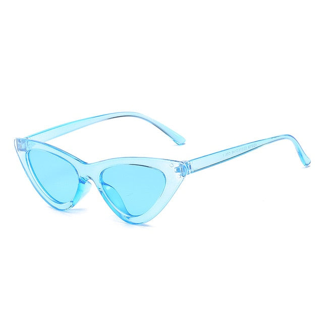 Cat Eye Sunglasses Women Sexy Retro Small Cateye Sun Glasses Mens Designer Colorful Eyewear Shades For Female