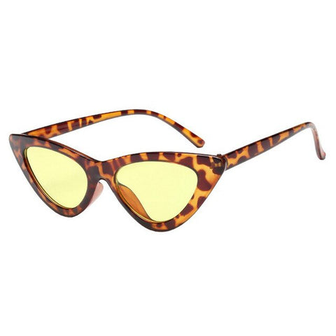 Image of Cat Eye Sunglasses Women Sexy Retro Small Cateye Sun Glasses Mens Designer Colorful Eyewear Shades For Female