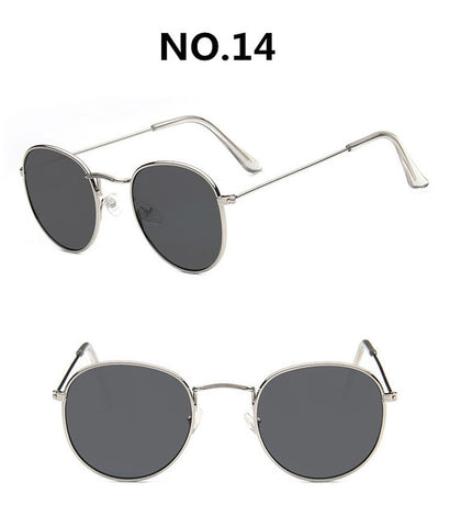 Image of Vintage Alloy Women Sunglasses Luxury Brand Designer Classic Small Frame Driving Mirror Eyewear