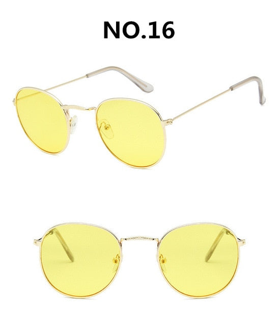 Vintage Alloy Women Sunglasses Luxury Brand Designer Classic Small Frame Driving Mirror Eyewear