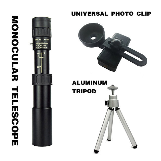 Monocular Telescope Super Zoom Quality Eyepiece Portable Binoculars Hunting Night Vision Scope Outdoor Camping