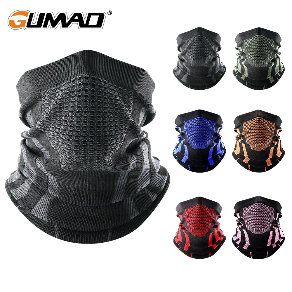 Thermal Face Bandana Mask Cover Neck Warmer Gaiter Bicycle Cycling Ski Tube Scarf Hiking Breathable Masks Print Women Men Winter