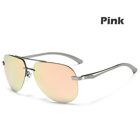 Men's Polarized Sunglasses Metal Alloy Driving Glasses 100% UV400 Protection Goggles Eyewear Male Pilot Style