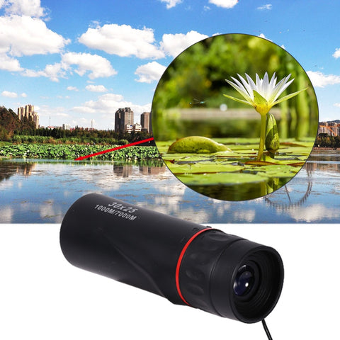 30 x 25 HD Optical Monocular Low Night Vision Waterproof Mini Portable Zoomable 10X Focus Telescope for Travel Hunting Scope