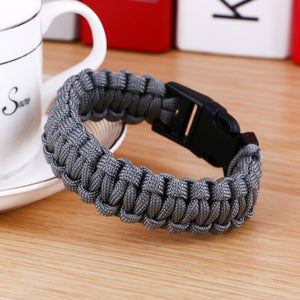 Original New Survival Paracord Bracelet For Men Outdoor Camping Hiking Buckle Wristband Women Rope Bracelet Male Jewelry