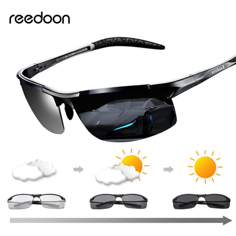Image of Reedoon Photochromic Sunglasses Polarized Lens UV400 Aluminium Magnesium Frame Driving Goggles For Men High Quality