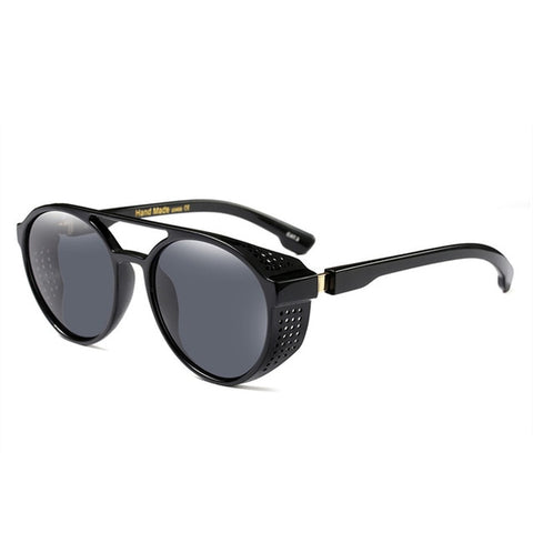 Retro Round Hollow Steampunk Sunglasses Vintage Men Goggles Sunglass Steam Punk Sun glasses Classical Twin-Beams Glasses