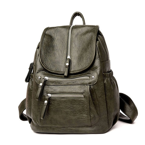 Women Backpack high quality Leather Fashion school Backpacks Female Casual Large Capacity Vintage Shoulder Bags