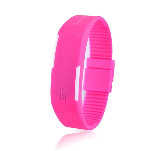 Image of Charming Wristwatches Unisex Men's Women's Silicone Red LED Sports Bracelet Touch Digital Wrist Watch