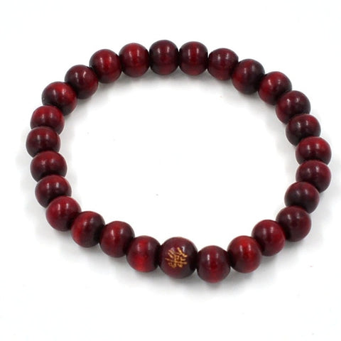 108 Beads 8mm Natural Sandalwood Buddhist Buddha Wood Prayer Beaded Knot black ebony Unisex Men Bracelets & Bangles for Women