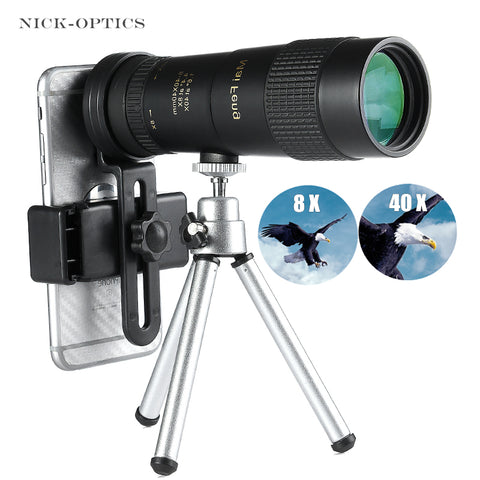 Image of Powerful 8-40X40 High quality Zoom Monocular Professional Telescope Portable for Camping Hunting Lll Night Vision Binoculars HD