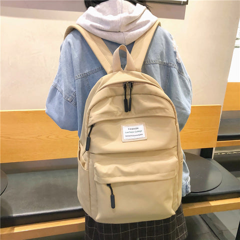 DCIMOR Waterproof Nylon Women Backpack Female Large capacity high school bag Korean Vintage girl Shoulder Bags Travel