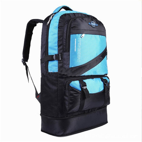60L waterproof men nylon backpack travel pack sports bag Outdoor Mountaineering Hiking Climbing Camping backpack for male