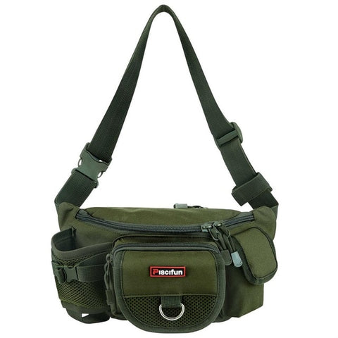Piscifun Fishing Bag Multifunctional Outdoor Waist Bag Portable Lure Waist Pack Messenger Bag Pole Package Fishing Tackle Bag