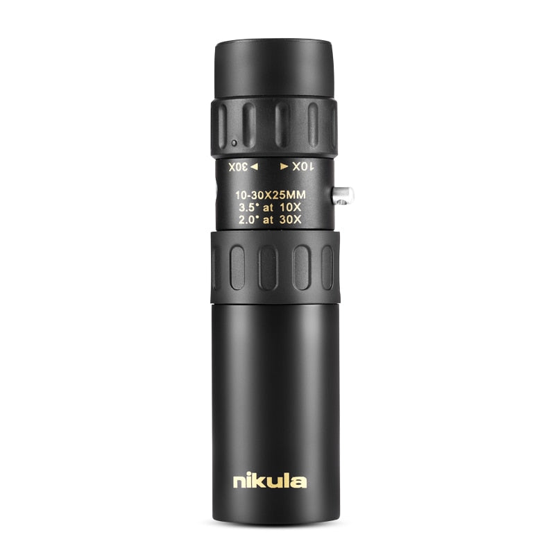 Original binoculars Nikula 10-30x25Zoom Monocular high quality Telescope Pocket Hunting Optical Prism Scope, no tripod