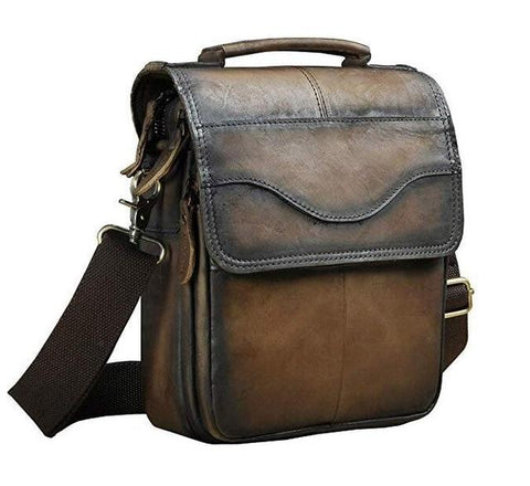 "Image of Quality Original Leather Male Casual Shoulder Messenger Bag Cowhide Fashion Cross-body Bag 8"" Pad Tote Mochila Satchel Bag 144"