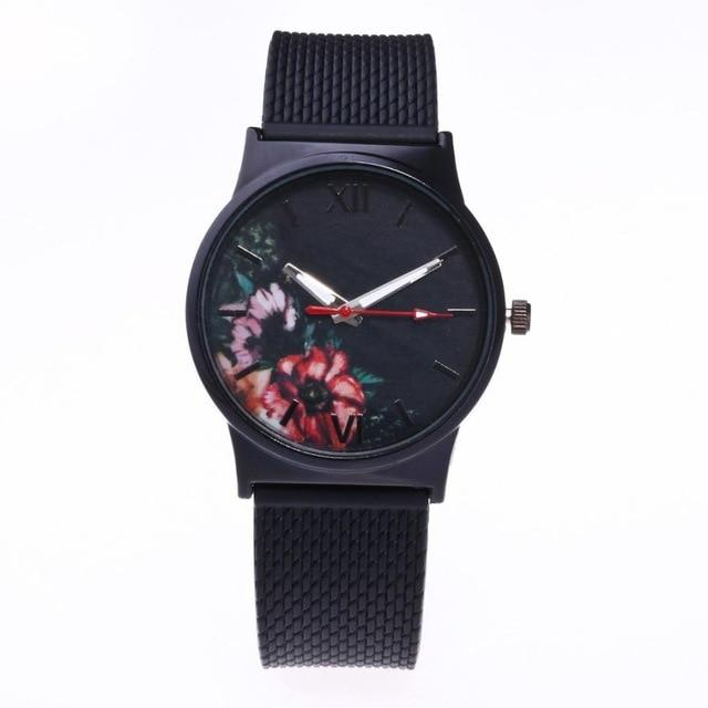 Quartz Wristwatches  Reloj Mujer    Simple   Round Women Watch   Silicone  Analog Alloy   Watches  Relogio Feminino 18JAN4